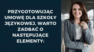 przygotowanie umowy dla szkoly jezykowej